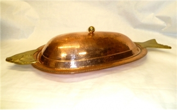 Hammered Copper Fish Platter - HOT DEAL