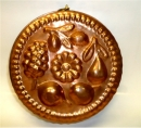"11"" Copper Round Fruit Mold"