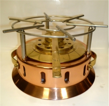 Copper Rechaud Heater with Burner