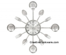 "Large Utensil & Cutlery 22"" Clock"