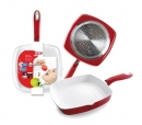 Ceramic 4mm Red Grill Pan