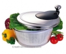 "9.5"" Salad Spinner Stainless Steel"