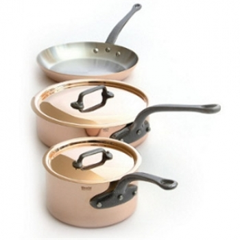 Mauviel M'250C - 2.5mm Copper Cookware 5 Pcs Set