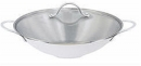 5 Qt - 30cm Stainless Steel Wok