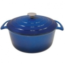 Le Cuistot 7.5 Qt - 7 Lts Vieille France Cast Iron Round Dutch Ovens
