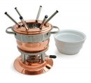 Swissmar 11 Pcs Lausanne Copper Fondue Set