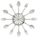 "Fork - Spoon Plain Face 15"" Clock"