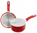 Ceramic 4mm Red Sauce Pan