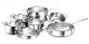 Cool Kitchen Integral 3-Ply Cookware 12 pc Set