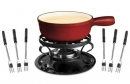 Swissmar 2.2 Qt Red Lugano Cheese Fondue Set