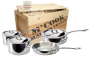 Mauviel M'Cook Stainless Cookware 7 Pcs Set with Crate