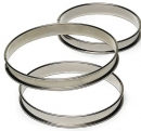 Gobel Rolled Edges Stainless Steel Deep Tart Rings
