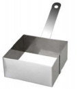 "Square 1.75"" High Cooking Ring with Handle"