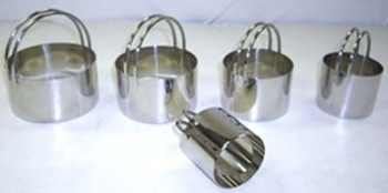 Round Stainless Plain Edged Steel Cutters Set