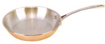 Strauss Le Cuivre 9.5 - 24cm 3-Ply Copper Fry Pan