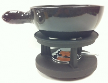 Deluxe 2.2 Qt Black Cheese Fondue Set - HOT DEAL