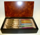 Authentic Laguiole Bright Colors Forks Set of 6