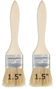 "Flat 1.5"" Wood Handle Cleaning Brush Set of 2"