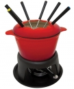 1.5 Qt - 1.4 Lts Le Cuistot Red Fondue Set