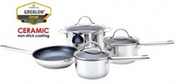 Cool Kitchen PRO CERAMIC Cookware 7 pc Set