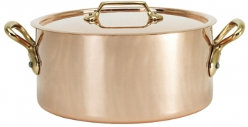 De Buyer 6.3 Qt - 6 Lts Inocuivre VIP Copper Stock Pot