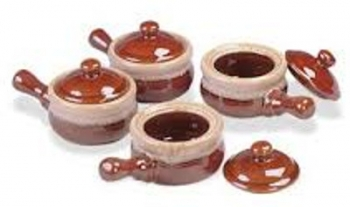 Deluxe Onion Soup Bowls with Lid Set of 4