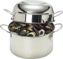 Demeyere 3.2 Qt - 3Lts Mussel Pot with Dome Lid