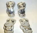 "Chico Bear / Panda Shape 5"" - 13cm Tin Pan Set of 4 - HOT DEAL"