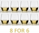 Riedel O Range Stemless Viognier/Chardonnay Glass - Set of 8