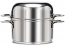 FinalTouch 3 Qt - 2.8 Lts Mussel Stainless Pot with Dome Lid