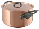 Mauviel M'250C 6.1 Qt - 5.7 Lts Stew Pot & Lid 2.5mm