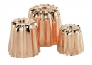 De Buyer Cannele Copper Fluted Molds