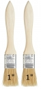 "Flat 1"" Wood Handle Cleaning Brush Set of 2"