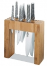 Global 7 pcs IKASU & Bamboo Knife Block Set