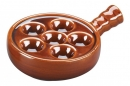 Brown Escargot - Snails Dishes Set of 6