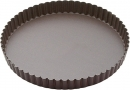 "Gobel Round Non-Stick Fixed Bottom Quiche Pans 1"" High"