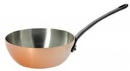 De Buyer Inocuivre First Class Curved Splayed Pans with Cast Iron Handle