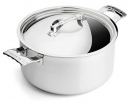 De Buyer French Collection Mont Bleu 5.6 Qt - 5.4 Lts Stock Pot