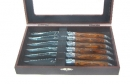 Laguiole Red Wood Steak Knives Set of 6