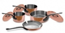 Mauviel M'250C - 2.5mm Copper Cookware 7 Pcs Set