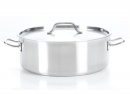 Strauss Pro Inox Low Casseroles with Lid