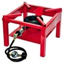 Red Gas Burner with Regulator