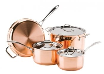 Strauss Le Cuivre 7 Piece 3-Ply Copper Cookware Set